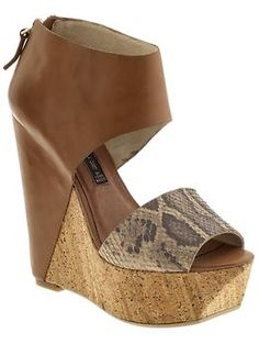 cork bottom wedges with animal print accent to stay on trend for spring 2012!
