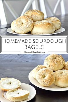 Our homemade sourdough bagels are truly an outstanding bagel recipe. The yeasty sourdough brings an excellent flavor and the rise is fluffy and light. Sourdough Donut Recipe, Sourdough Starter Discard Recipe, Sourdough Bagels, Sourdough Recipes, Bread Recipes, Cooking Recipes, Starter Recipes, Easy Recipes, Breakfast