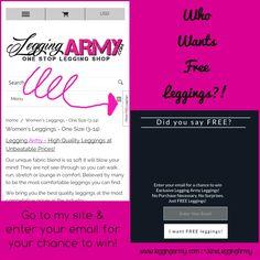 www.leggingarmy.com/#JensLeggingArmy  Referral Code : Jennifer Hall JensLeggingArmy