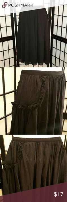 *CLEARANCE* Beautiful Black Rose Bud A-line Skirt Excellent Condition, Worn Once, Rose Buds on each Side, Side Zipper, Fully Lined, Knee-length, Medium Heavy, A Must Have, Thanks for sharing my closet, I will ALWAYS show Posh love by doing the same💓 Evelyn Skirts A-Line or Full