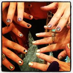 @shopncla nail art inspired by my fall collection for #fno! Lookin good, @lauriebstyle @rebekahdana and @aadonegan! Xk #kwxncla - @kellywearstler- #Instagram