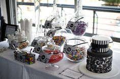 Love the current candy bar fad for weddings, parties - whatever you like! Gorwn up lolly bags :) Buffet Ideas, Bar Ideas, Food Ideas, Candy Bar Wedding, Wedding Favors, Wedding Ideas, Candy Table, Candy Buffet, Our Wedding Day