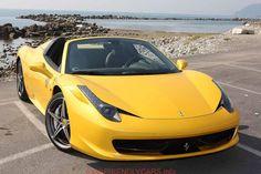 awesome ferrari italia convertible yellow car images hd 2014 Ferrari 458 Yellow Front View Photo   Car Desktop HD Wallpapers