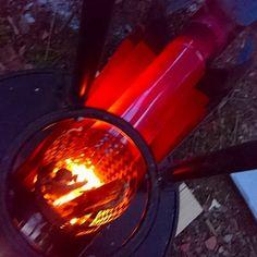 ホッパーつきロケットストーブでおがくずを燃やすテスト|趣味工作の便利屋:あなたの困っているものづくり・試作を応援します