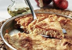 κρεμμυδόπιτα με τυρί και σπιτικό φύλλο ζύμη πεντανόστιμη η καλύτερη συνταγη Spanakopita, Churros, Apple Pie, French Toast, Recipies, Food And Drink, Vegetarian, Breakfast, Healthy