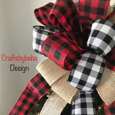 Here are 16 awesome ideas for diy Christmas decorations. Some of the material I got from a dollar tree store. Ribbon On Christmas Tree, Burlap Christmas, Christmas Tree Themes, Christmas Fabric, Plaid Christmas, White Christmas, Christmas Ideas, Christmas Crafts, Christmas 2019