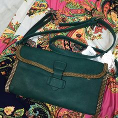 Beautiful green crossbody Comes with dust bag Miss Unique Bags Crossbody Bags