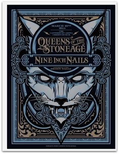 QUEENS OF STONE AGE & NINE INCH NAILS Christchurch NZ 2014 Screenprint! #Hydro74