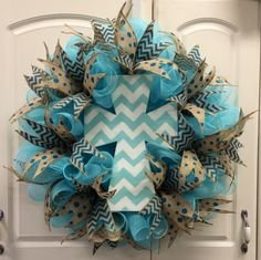 cross- Deco Mesh Wreath