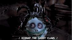 "Lock, Shock, and Barrel are brilliantly terrifying when they plan to kidnap ""Sandy Claws"" and ""chop him into bits."" 