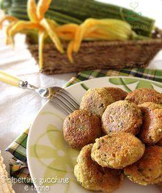 Polpettine zucchine e tonno http://blog.giallozafferano.it/graficareincucina/polpettine-zucchine-e-tonno/