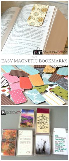 Easy Magnetic Bookmarks Magnetic bookmarks easy paper craft bookmarks easy magnetic bookmarks bookmark scrap paper bookmarks The post Easy Magnetic Bookmarks appeared first on Paper Ideas. Easy Paper Crafts, Scrapbook Paper Crafts, Book Crafts, Crafts To Do, Felt Crafts, Crafts Cheap, Paper Crafting, Scrapbooking, Paper Bookmarks