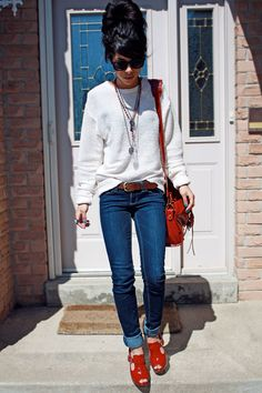 such a cute winter outfit   MODEST IS HOTTEST!!!!!   but get rid of that hair style!!!