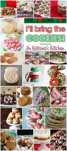 Bring the Cookies A New Cookie Every Day in December - Some of the BEST holiday cookie recipes! Don't miss this roundup!Some of the BEST holiday cookie recipes! Don't miss this roundup! Best Holiday Cookies, Holiday Cookie Recipes, Xmas Cookies, Yummy Cookies, Holiday Desserts, Holiday Baking, Holiday Treats, Making Cookies, Snowman Cookies