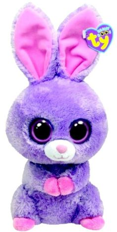 Ty Beanie Boos Buddies Petunia Purple Bunny in Animals. Big Eyed Animals, Ty Animals, Ty Stuffed Animals, Ty Beanie Boos, Ty Boos, Beanie Babies, Dolly Parton, Ty Peluche, Boo And Buddy