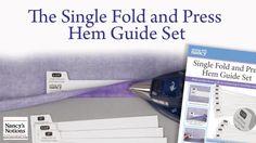 Single Fold and Press Hem Guide Set - Hemming