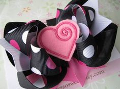 Valentine's Day Hair Clips & Bows For Girls & Kids 2013