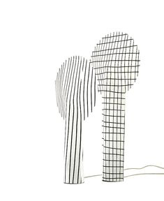 Paper Lamp With a Strong Graphic Effect paper lamp 1