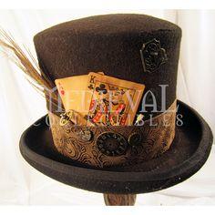 Mens Gambling Steampunk Top Hat