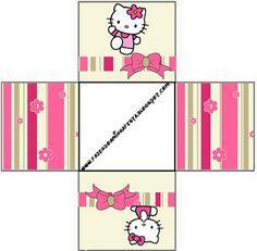 Cajitas imprimibles de Hello Kitty