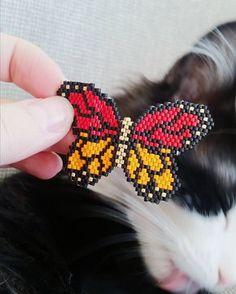 use velvet deep purple, amethy Peyote Patterns, Beading Patterns, Seed Bead Jewelry, Beaded Jewelry, Beaded Earrings, Beaded Bracelets, Miyuki Beads, Beaded Animals, Pony Beads
