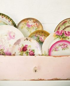 plates  have mine in an old sewing drawer. beautiful