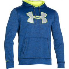 Rebel Sport - Under Armour Mens Armour Fleece Storm Big Logo Twist Hoody Fleece Hoodie, Hoody, Cold Gear, Under Armour, Graphic Sweatshirt, Adidas, Mens Fashion, Sweatshirts, Sports