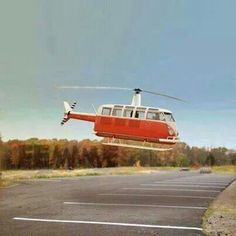Hella Cool Vw Bus Helicopter