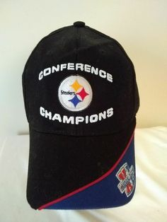 Details about Pittsburgh Steelers Super Bowl XL Champions Black Adjustable Cap  Hat 5a5cc9638