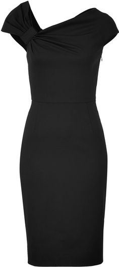 Black Classic Draped Dress Valentino dressmesweetiedarling