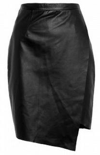 SAVVY CHIC, CANNY STYLE: Splendid Skirt: Peridot London Hopkins Wrap Leather Pencil Skirt from My-Wardrobe.com
