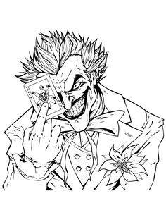 The Joker Pen And Paper Coloring Pages Adult Coloring Pages