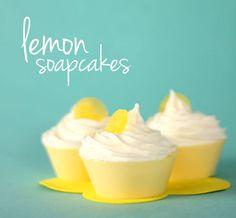 Lemony Cupcake Soap Tutorial