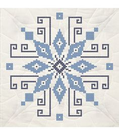 Fairway Stamped Cross Stitch Quilt Blocks Wheel