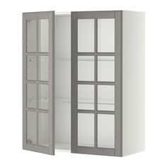 METOD Väggskåp m hyllplan/2 vitrindörrar IKEA Du kan anpassa avstånden efter behov, eftersom hyllplanet är flyttbart.