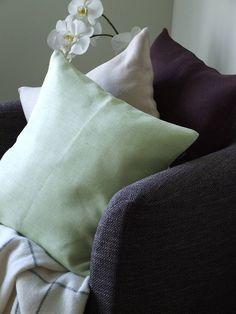 herringbone pure linen cushion cover emilia by linenme | notonthehighstreet.com
