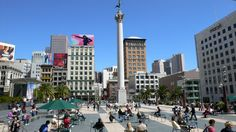 Union Square is a shopping hub, surrounded by hotels. It is home to major department stores and chains, but you'll also find boutiques and independent vendors.