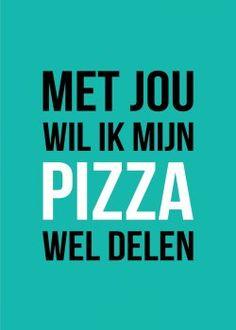 KaartWereld - pizza delen? kaart