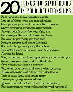 Lines, Dots and Curls: 20 Things to Start for your Relationships
