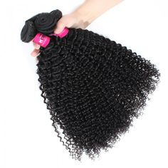 One More Hair Kinky Curls 3 Bundles Indian Jerry Curly Human Hair Extensions