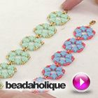 Video: How to Make the Camille Bracelet with 2-hole silky beads | Beadaholique  ~ Seed Bead Tutorials