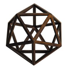 Artfully handcrafted from wood, this eye-catching geometric decor lends an unexpected touch to your desk or etagere.   Product: Deco...
