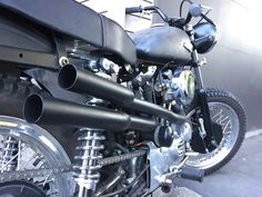 Built by Ed Locke 1977 HD Scrambler with HD 1960 circa bits and pieces from Triumph/HD.