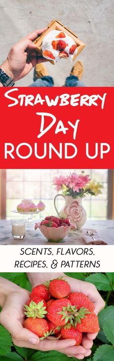 Maybe you celebrate it every year or maybe this is your first time hearing about it. Strawberry Day is coming soon and the Two Blogs Fun Guides have created a roundup with some of our favorite strawberry-themed items. We hope that you enjoy this roundup. Use it as an excuse to fill your home with the YUM of strawberries!#Strawberry #StrawberryDay