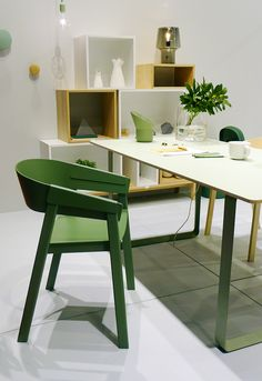 Salone del Mobile 2013: Dining chair by Thomas Bentzen and table by TAF for Muuto