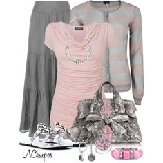 Pink and Grey :) without the jewelry