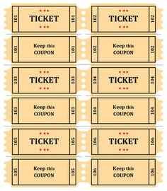 Marvelous 15 Free Raffle Ticket Templates. Follow These Steps To Create Your Own DIY  Printable Custom Intended Create A Ticket Template Free