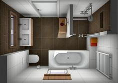 Badkamer ontwerpen? | Small bathroom, Interiors and House