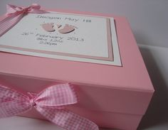 Would make a sweet baby card 2 cards for babies pinterest personalised baby memory keepsake box oh so purrfect 3 negle Images