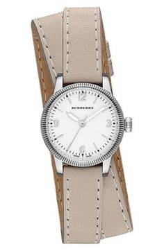 Burberry 'Utilitarian' Leather Wrap Watch, 30mm at #Nordstrom